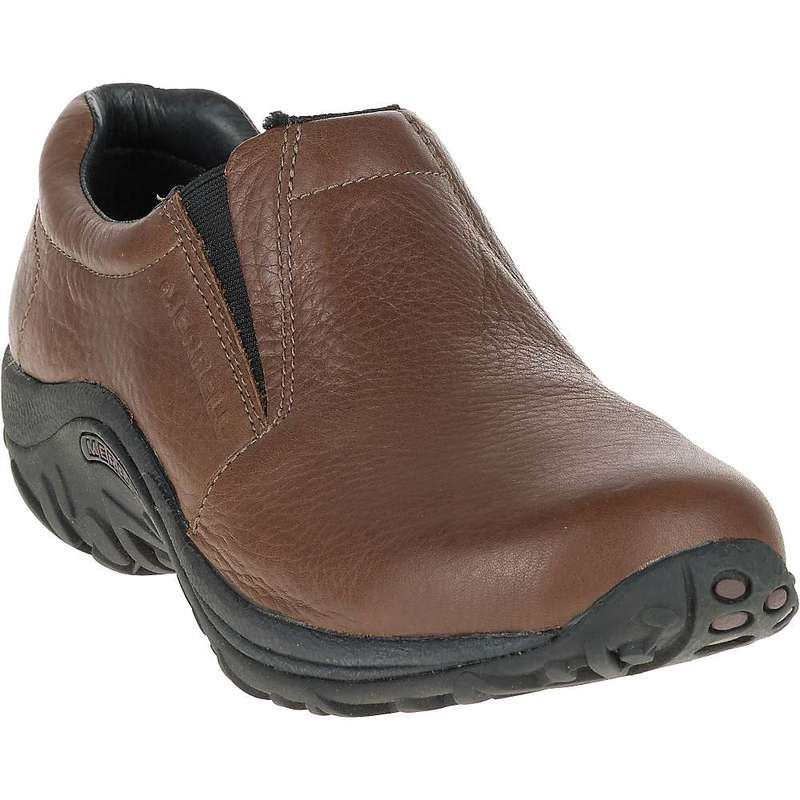 メレル メンズ スニーカー シューズ Merrell Men's Jungle Moc Leather Shoe Mahogany Brown