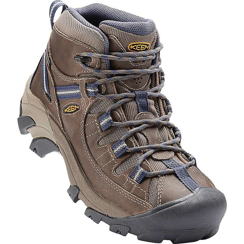 キーン レディース ブーツ・レインブーツ シューズ Keen Women's Targhee II Mid Waterproof Shoe Goat / Crown Blue