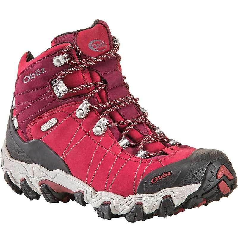 オボズ レディース ブーツ・レインブーツ シューズ Oboz Women's Bridger Mid BDry Boot Rio Red