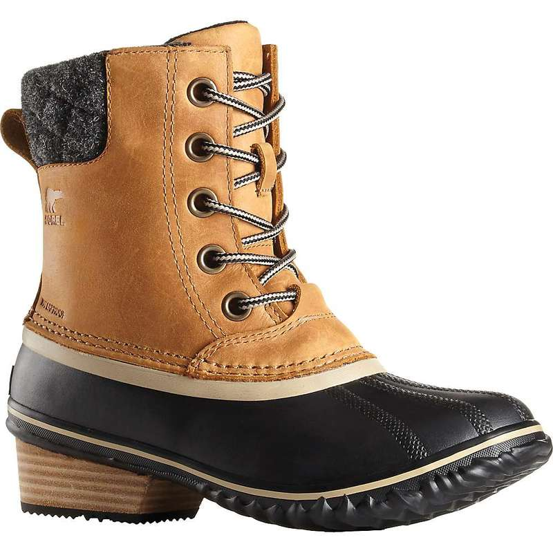 ソレル レディース ブーツ・レインブーツ シューズ Sorel Women's Slimpack II Lace Boot Elk / Black