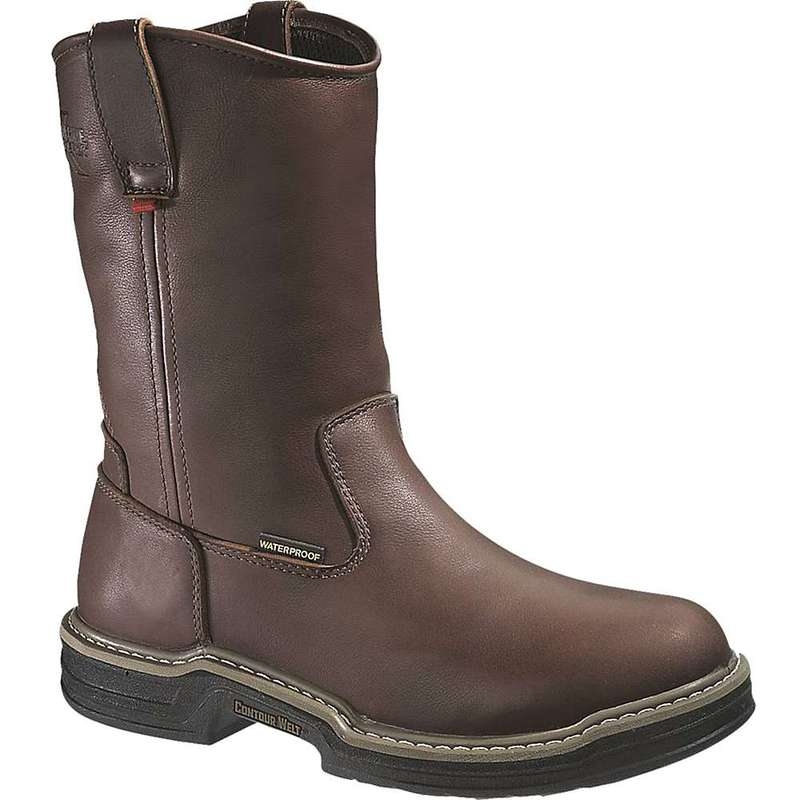 ウルヴァリン メンズ ブーツ・レインブーツ シューズ Wolverine Men's Darco Waterproof Wellington Steel Toe Boot Dark Brown