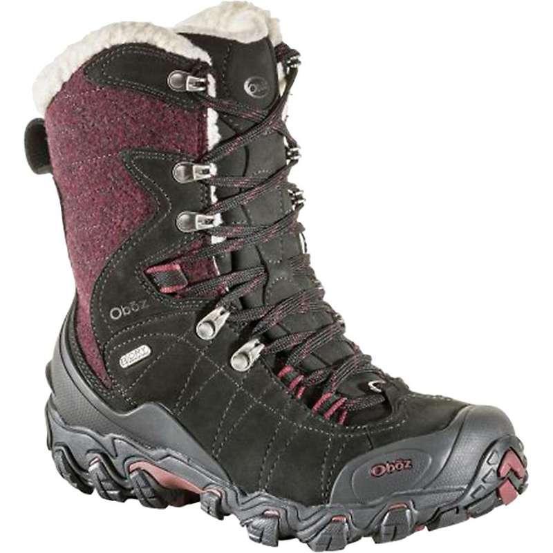 オボズ レディース ブーツ・レインブーツ シューズ Oboz Women's Bridger Insulated BDry 9IN Boot Winterberry Red