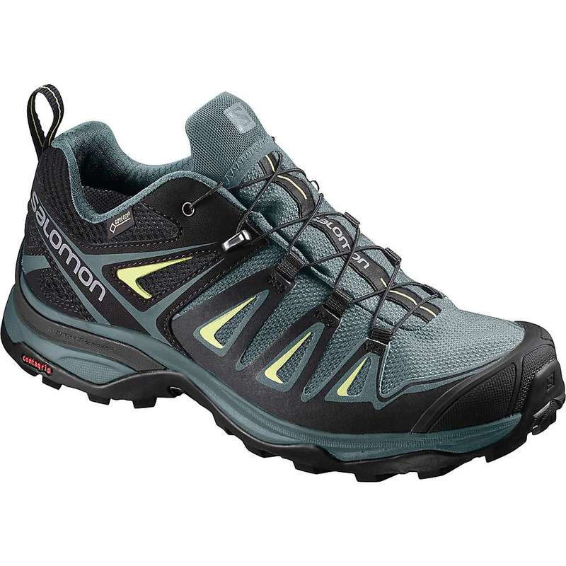 サロモン レディース ブーツ・レインブーツ シューズ Salomon Women's X Ultra 3 GTX Shoe Artic / Darkest Spruce / Sunny Lime