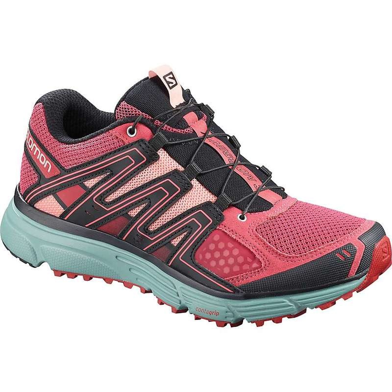サロモン レディース スニーカー シューズ Salomon Women's X-Mission 3 Shoe Garnet Rose / Trellis / Coral Almond
