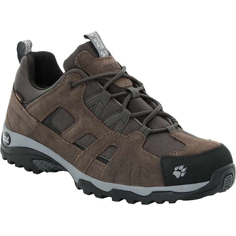 ジャックウルフスキン メンズ ブーツ・レインブーツ シューズ Jack Wolfskin Men's Vojo Hike Texapore Low Boot Dark Wood