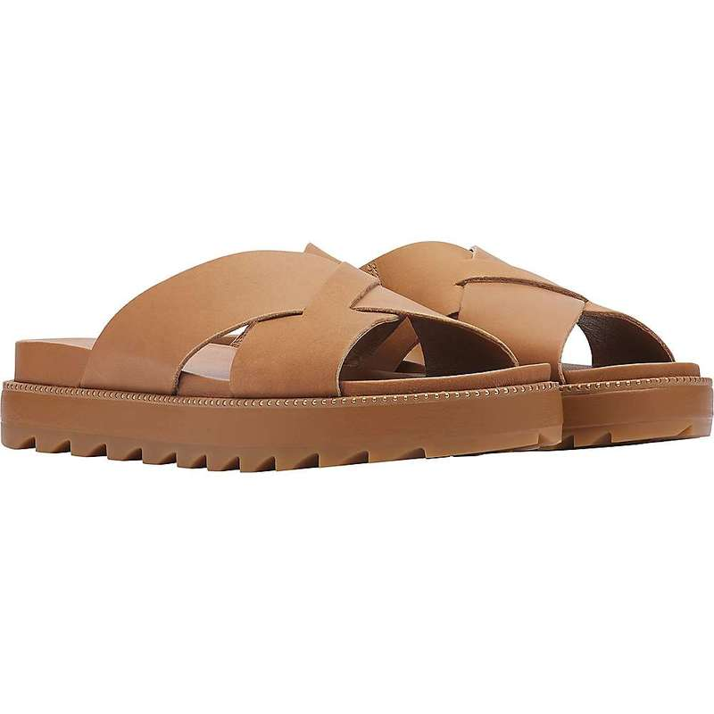 ソレル レディース スニーカー シューズ Sorel Women's Roaming Criss Cross Slide Camel Brown