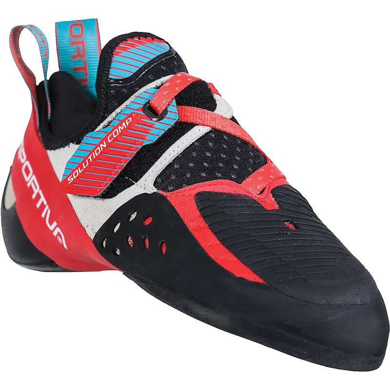 ラスポルティバ レディース スニーカー シューズ La Sportiva Women's Solution Comp Climbing Shoe Hibiscus / Malibu Blue
