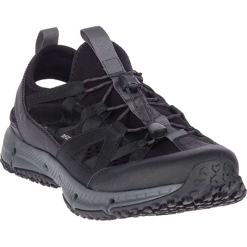メレル メンズ ブーツ・レインブーツ シューズ Merrell Men's Hydrotrekker Synthetic Shandal Black / Grey