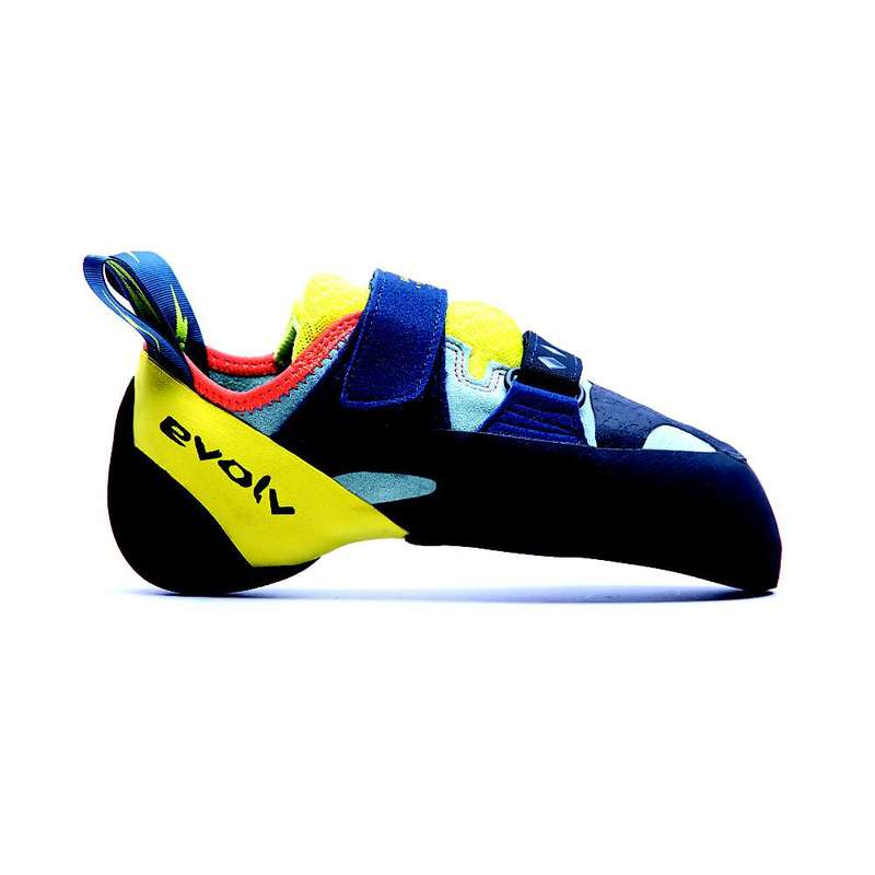 エボルブ レディース スニーカー シューズ Evolv Women's Shakra Climbing Shoe Aqua / Neon Yellow