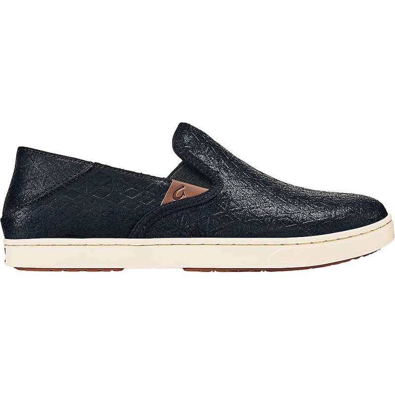 オルカイ レディース スニーカー シューズ OluKai Women's Pehuea Leather Shoe Black Kapa / Black