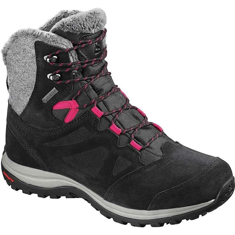 サロモン レディース ブーツ・レインブーツ シューズ Salomon Women's Ellipse Winter GTX Boot Black / Phantom / Cerise
