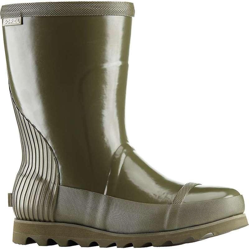 ソレル レディース ブーツ・レインブーツ シューズ Sorel Women's Joan Rain Short Gloss Boot Nori / Zest