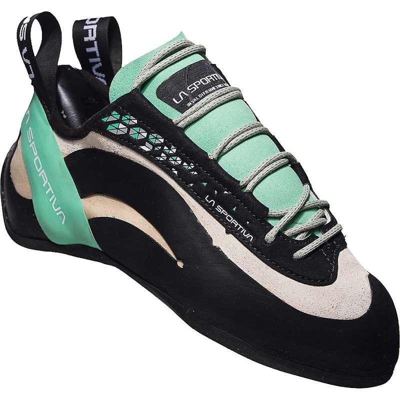 ラスポルティバ レディース スニーカー シューズ La Sportiva Women's Miura Climbing Shoe White / Jade Green