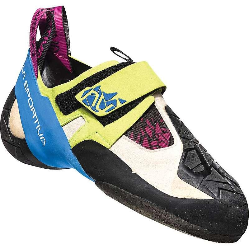 ラスポルティバ レディース スニーカー シューズ La Sportiva Women's Skwama Climbing Shoe Apple Green / Cobalt Blue
