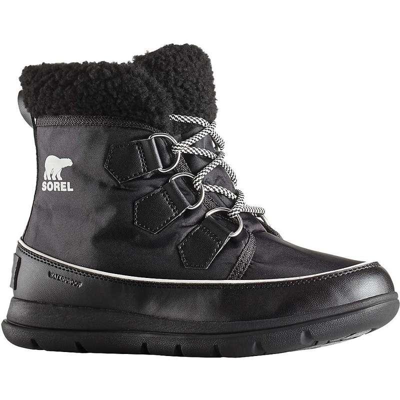 ソレル レディース ブーツ・レインブーツ シューズ Sorel Women's Explorer Carnival Boot Black / Sea Salt