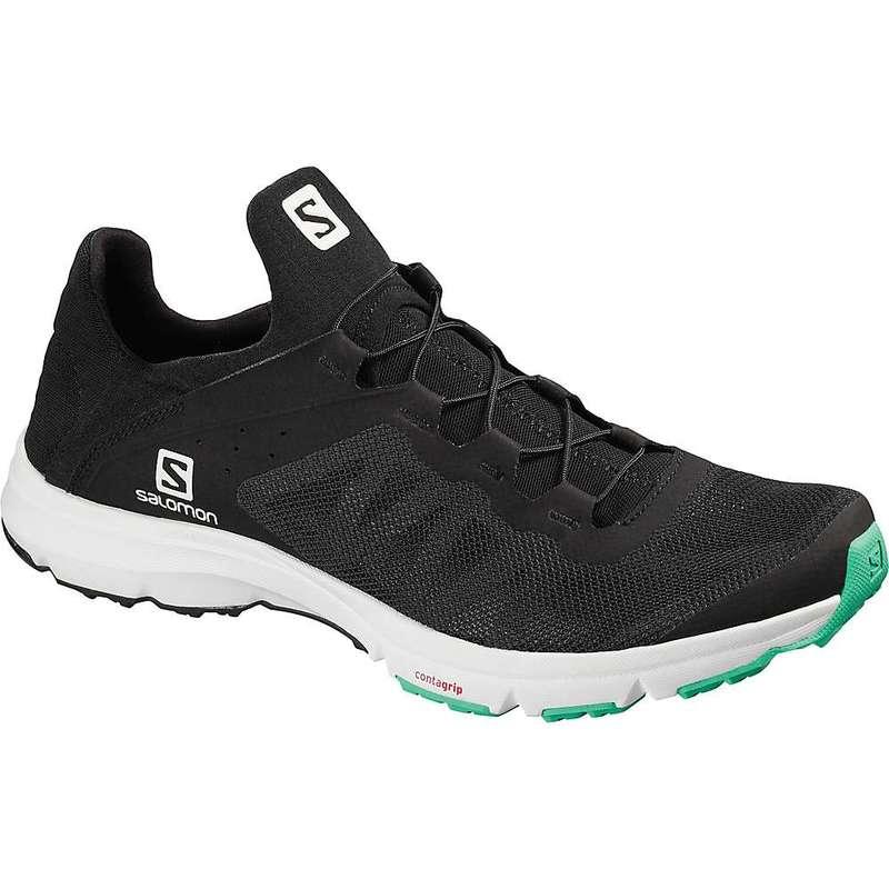 サロモン レディース ブーツ・レインブーツ シューズ Salomon Women's Amphib Bold Shoe Black / White / Electric Green