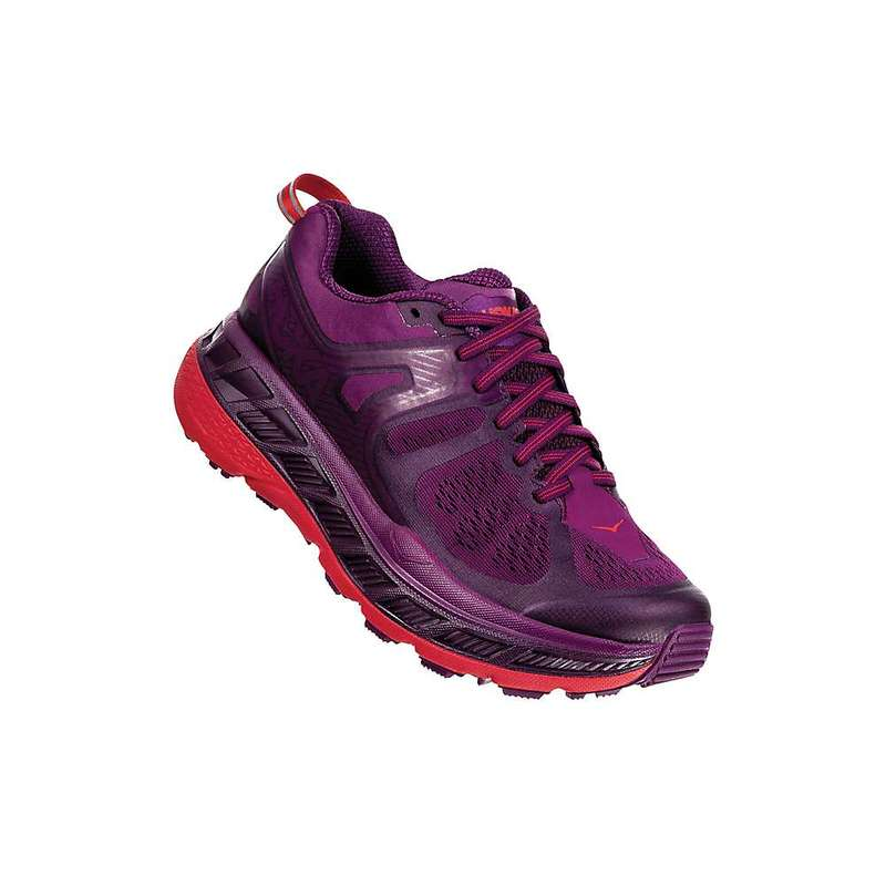 ホッカオネオネ レディース スニーカー シューズ Hoka One One Women's Stinson Atr 5 Shoe Grape Juice / Poppy Red