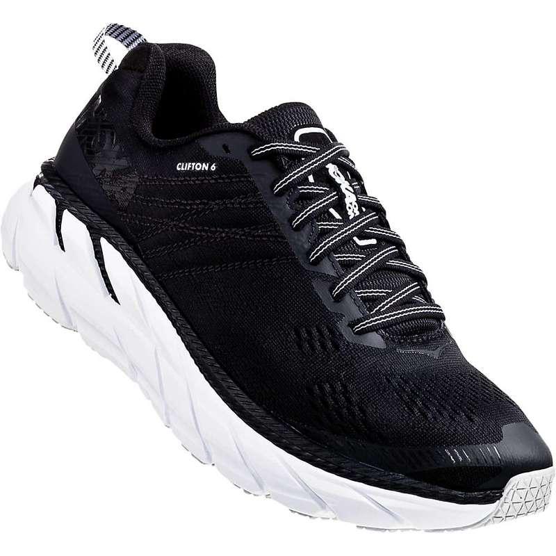 ホッカオネオネ レディース スニーカー シューズ Hoka One One Women's Clifton 6 Shoe Black / White