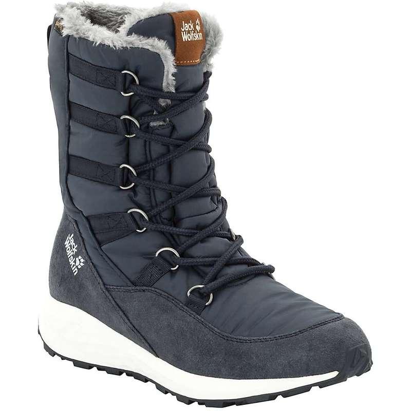 ジャックウルフスキン レディース ブーツ・レインブーツ シューズ Jack Wolfskin Women's Nevada Texapore High Boot Dark Blue / Off-White