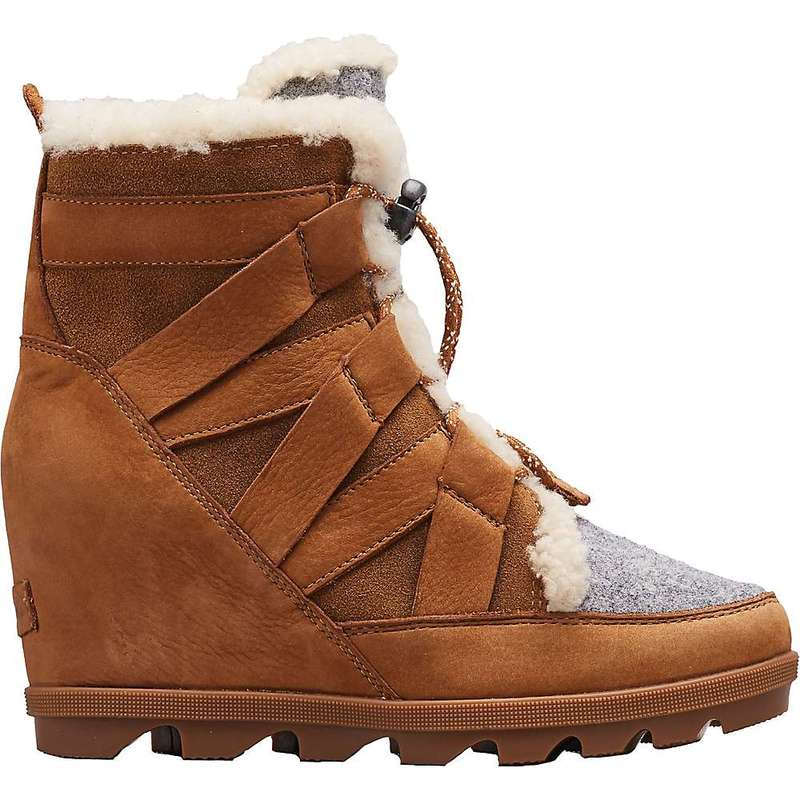 ソレル レディース ブーツ・レインブーツ シューズ Sorel Women's Joan Of Arctic Wedge II Cozy Boot Camel Brown