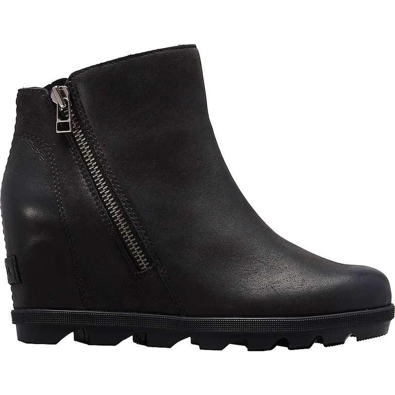 ソレル レディース ブーツ・レインブーツ シューズ Sorel Women's Joan Of Arctic Wedge II Zip Boot Black