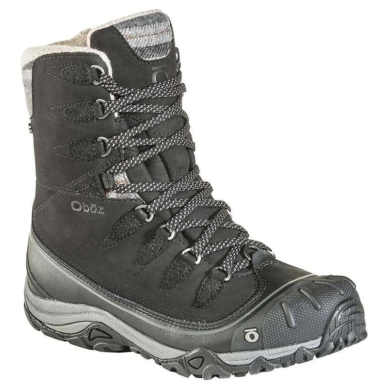オボズ レディース ブーツ・レインブーツ シューズ Oboz Women's Sapphire 8IN Insulated B-Dry Boot Black