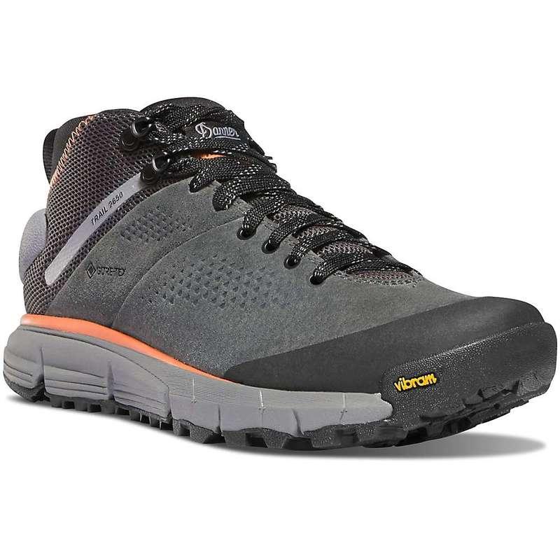 ダナー レディース ブーツ・レインブーツ シューズ Danner Women's Trail 2650 Mid Waterproof Shoe Dark Gray / Salmon