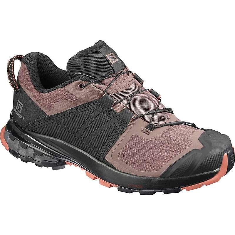 サロモン レディース ブーツ・レインブーツ シューズ Salomon Women's XA Wild Shoe Peppercorn/Black/Cedar Wood