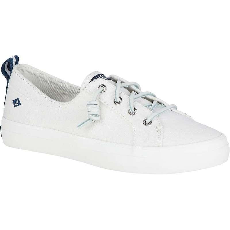 スペリー レディース スニーカー シューズ Sperry Women's Crest Vibe Linen Shoe White