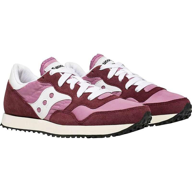 サッカニー レディース スニーカー シューズ Saucony Women's DXN Trainer Vintage Shoe Burgundy/Pink