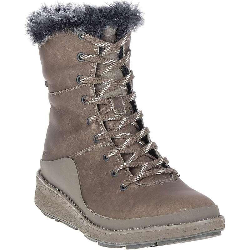 メレル レディース ブーツ・レインブーツ シューズ Merrell Women's Tremblant Ezra Lace Waterproof Ice+ Boot Boulder