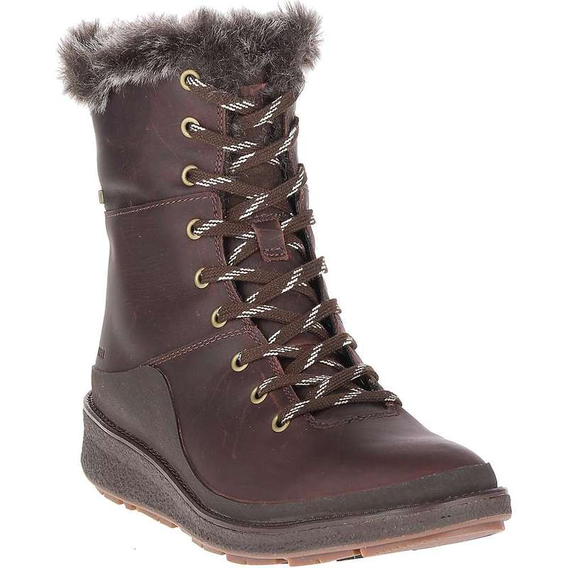 メレル レディース ブーツ・レインブーツ シューズ Merrell Women's Tremblant Ezra Lace Waterproof Ice+ Boot Espresso