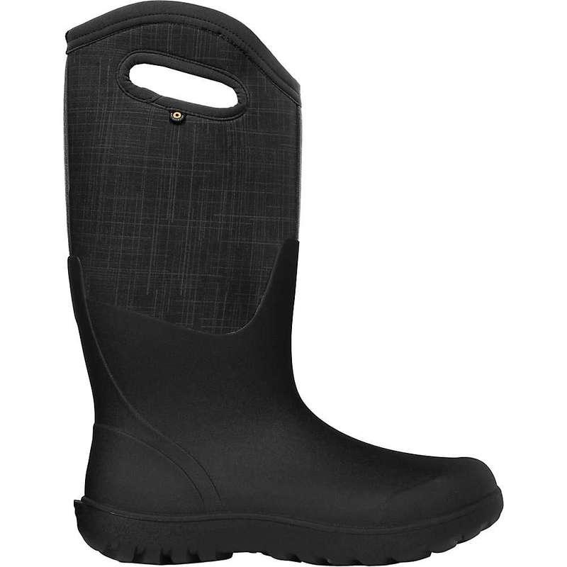 ボグス レディース ブーツ・レインブーツ シューズ Bogs Women's Neo-Classic Tall Linen Boot Black Multi
