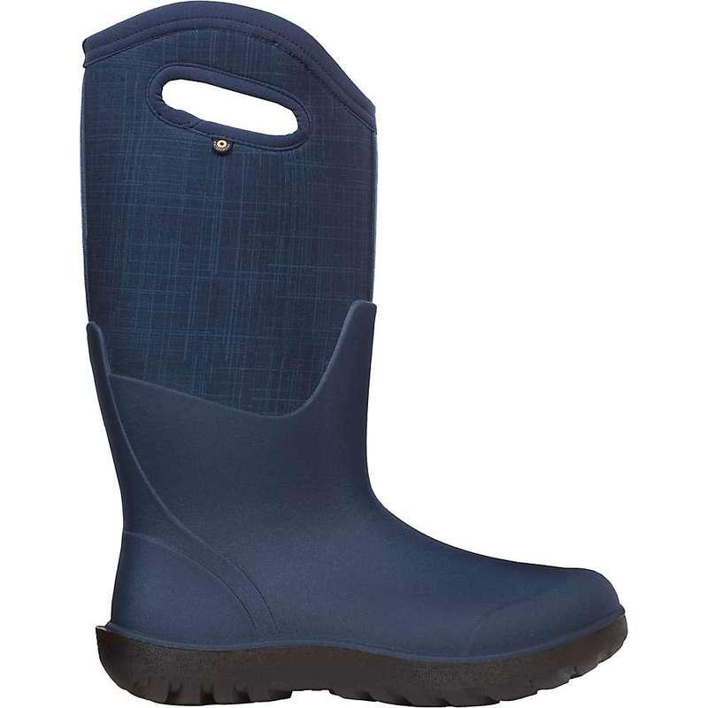 ボグス レディース ブーツ・レインブーツ シューズ Bogs Women's Neo-Classic Tall Linen Boot Dark Blue Multi