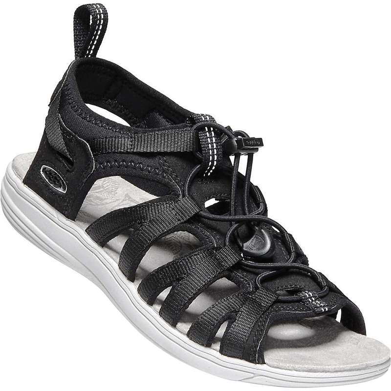キーン レディース サンダル シューズ Keen Women's Damaya Lattice Sandal Black / Vapor Blue