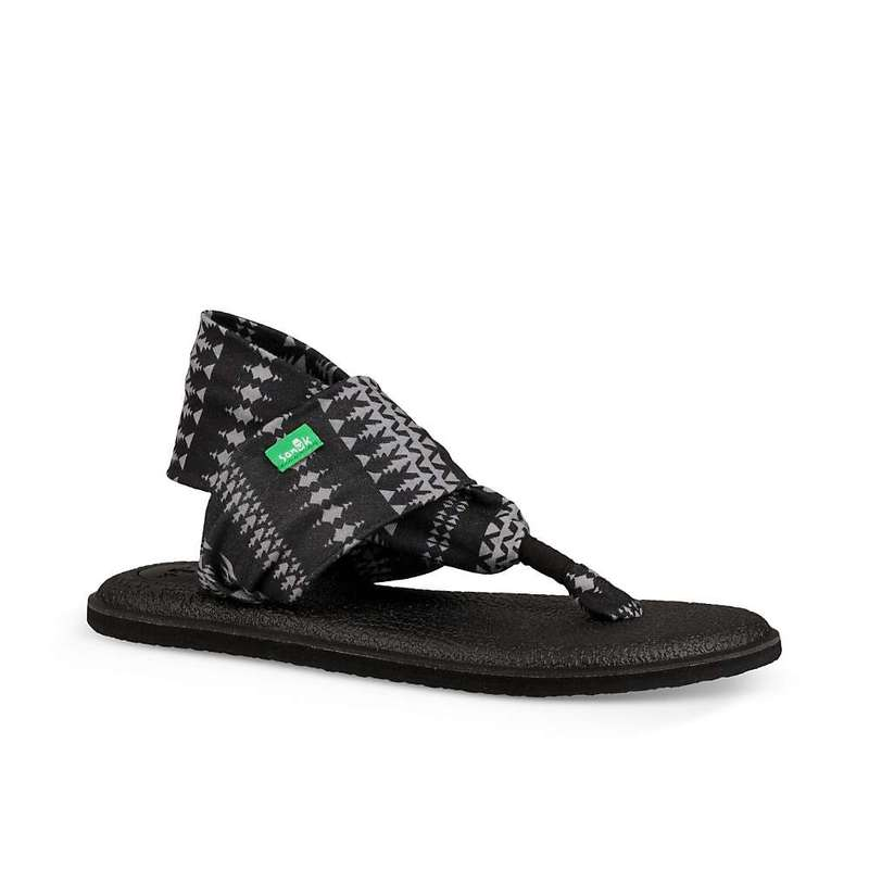 サヌーク レディース サンダル シューズ Sanuk Women's Yoga Sling 2 Print Sandal Black/Natural Koa Tribal