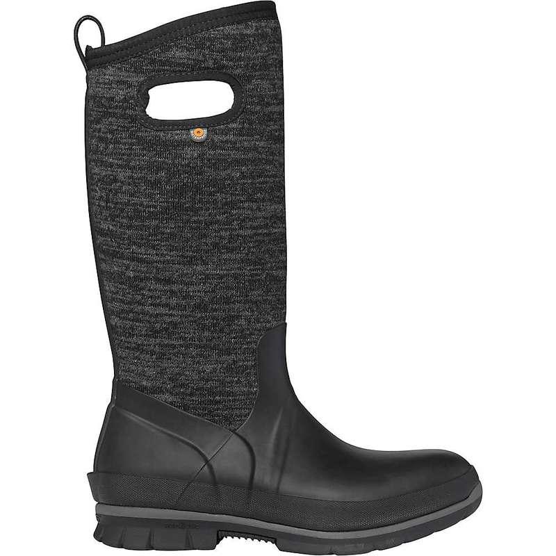 ボグス レディース ブーツ・レインブーツ シューズ Bogs Women's Crandall Tall Knit Boot Black Multi