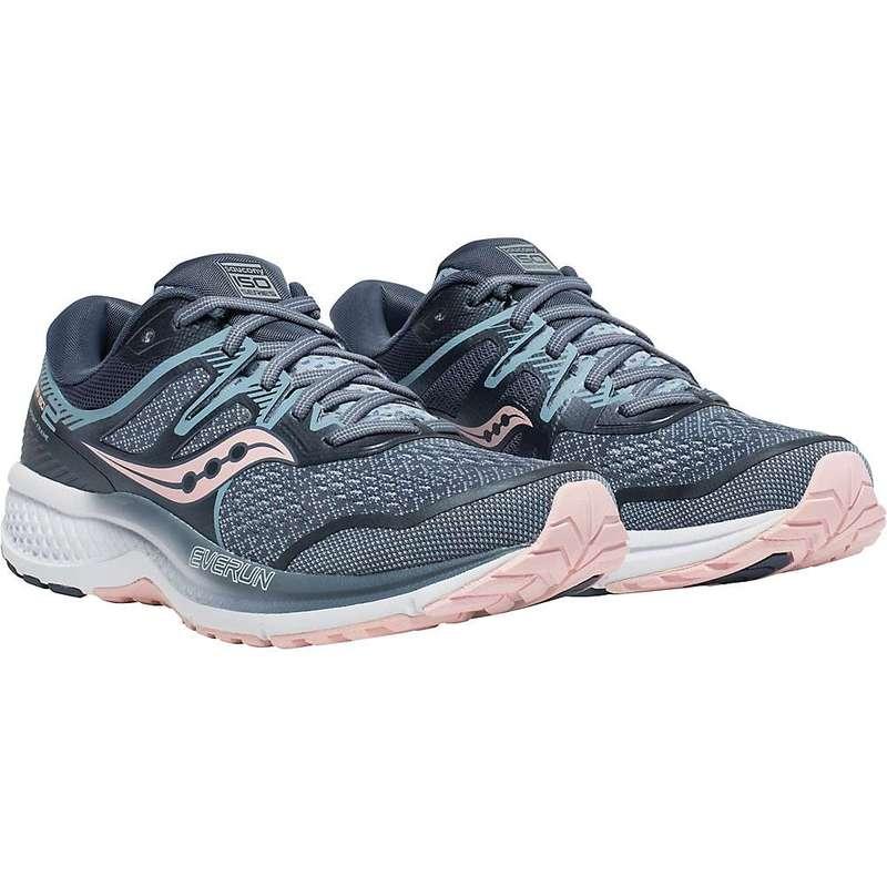 サッカニー レディース スニーカー シューズ Saucony Women's Omni Iso 2 Shoe Grey / Pink