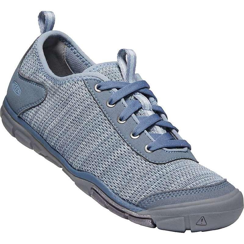キーン レディース スニーカー シューズ Keen Women's Hush Knit CNX Shoe Flint Stone / Blue Fog
