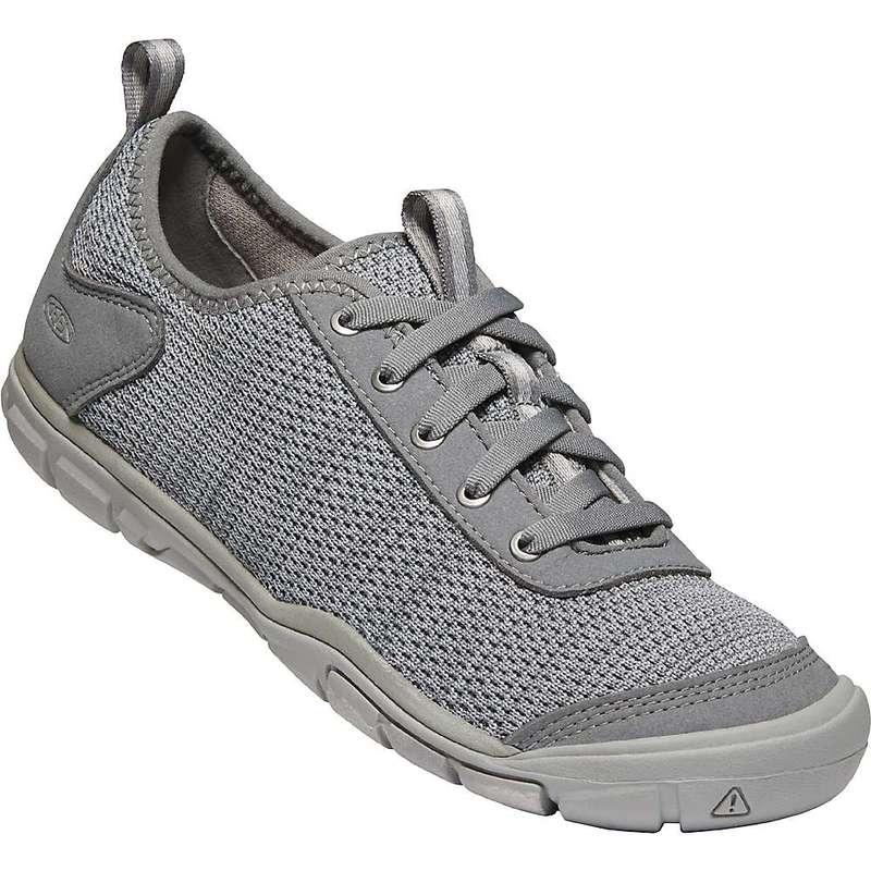 キーン レディース スニーカー シューズ Keen Women's Hush Knit CNX Shoe Steel Grey / Drizzle