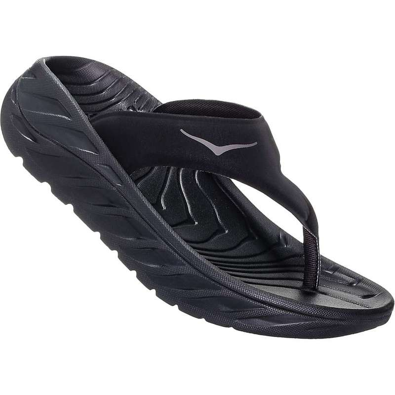 ホッカオネオネ レディース サンダル シューズ Hoka One One Women's Ora Recovery Flip Black / Dark Gull Gray