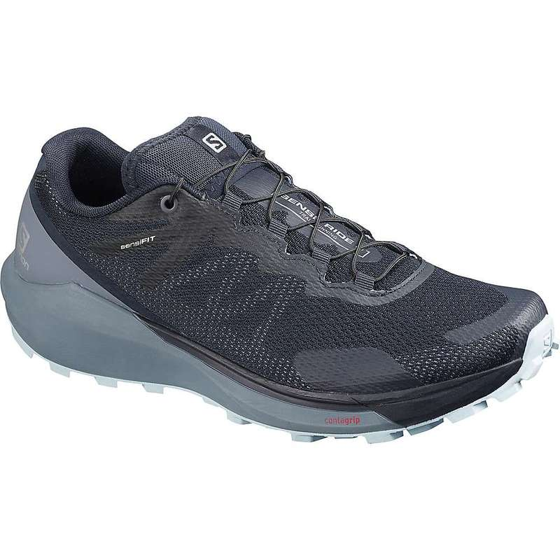 サロモン レディース スニーカー シューズ Salomon Women's Sense Ride 3 Shoe Navy Blazer/Flint Stone/Angel Falls