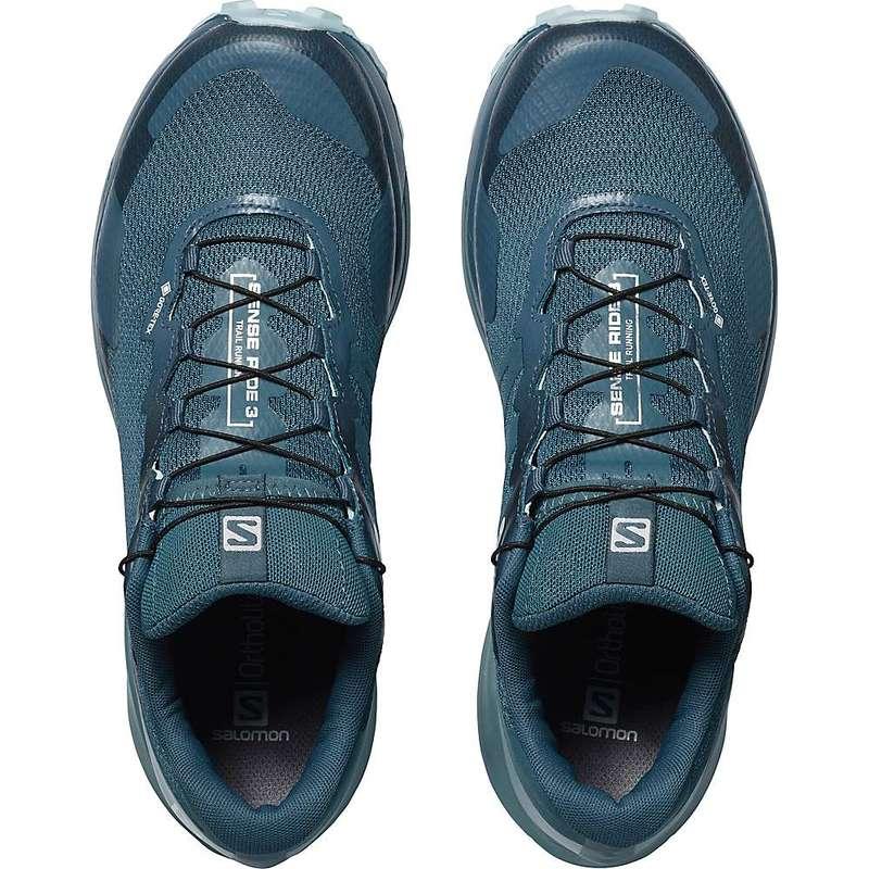 サロモン レディース スニーカー シューズ Salomon Women's Sense Ride GTX Invisible Fit Shoe Indian Teal/Smoke Blue/Angel Falls