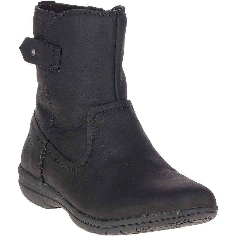 メレル レディース ブーツ・レインブーツ シューズ Merrell Women's Encore Kassie Mid Waterproof Boot Black