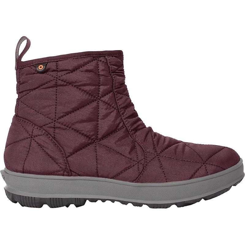 ボグス レディース ブーツ・レインブーツ シューズ Bogs Women's Snowday Low 6 Inch Boot Wine