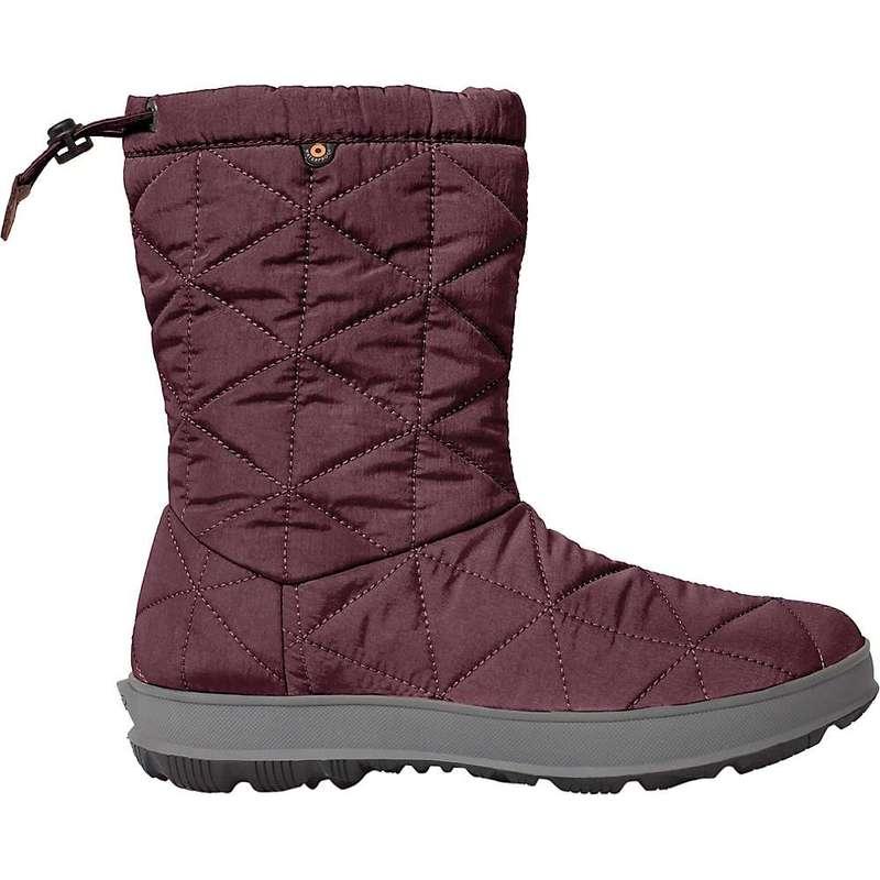 ボグス レディース ブーツ・レインブーツ シューズ Bogs Women's Snowday Mid 9 Inch Boot Wine