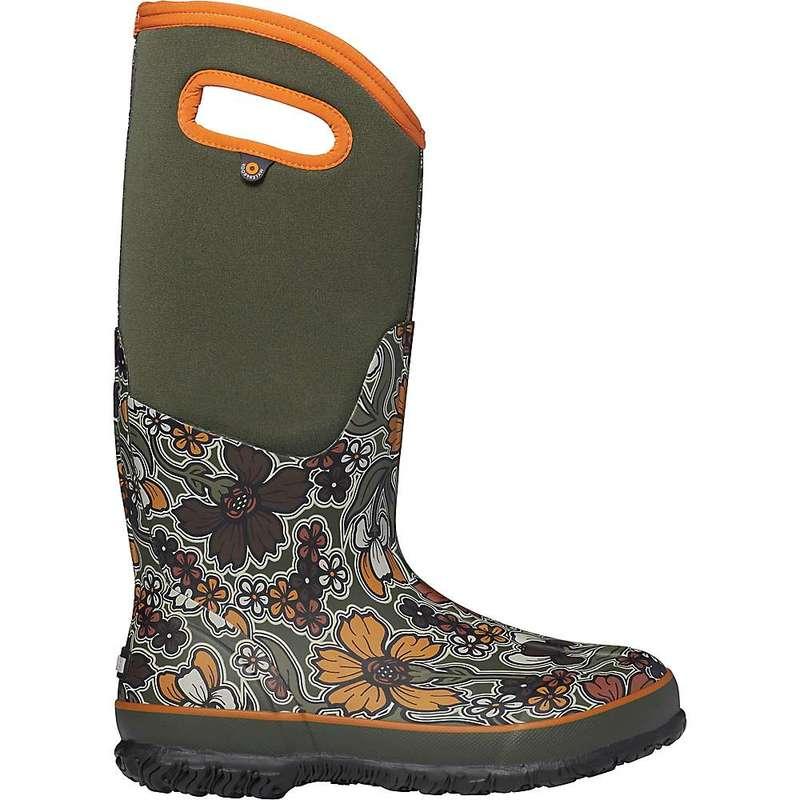 ボグス レディース ブーツ・レインブーツ シューズ Bogs Women's Classic May Flowers Tall Boot Green Multi