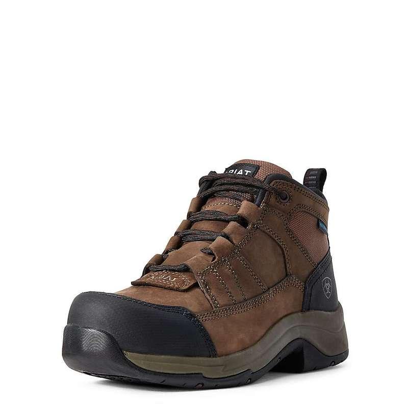 アリアト レディース ブーツ・レインブーツ シューズ Ariat Women's Telluride Work H2O Boot Distressed Brown