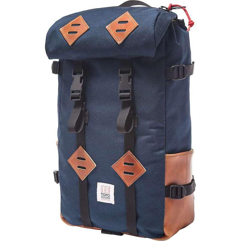 トポ・デザイン メンズ バックパック・リュックサック バッグ Topo Designs Klettersack 22L Navy / Leather