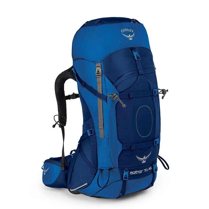 オスプレー メンズ バックパック・リュックサック バッグ Osprey Men's Aether AG 70 Pack Neptune Blue